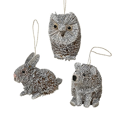 Kurt Adler 3″-4″ Buri Winter Animal Ornaments, Set of 3