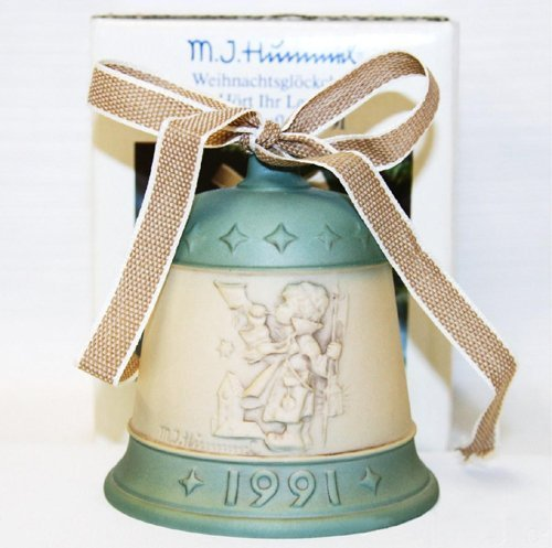 M.J. Hummel 1991 Hear Ye Hear Ye Goebel Bell German Collectible Ornament – Vintage Holiday Decor by M I Hummel