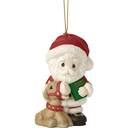 Precious Moments All Things Are Possible If You Believe Ninth in Annual Santa Series Bisque Porcelain Ornament 171012