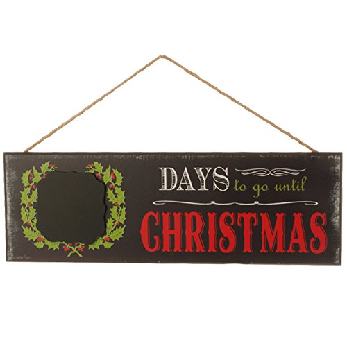Chalkboard Countdown to Christmas Sign – 16 Inches