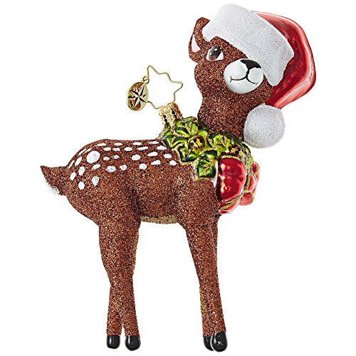 Christopher Radko Oh, Deer Me! Animal Christmas Ornament