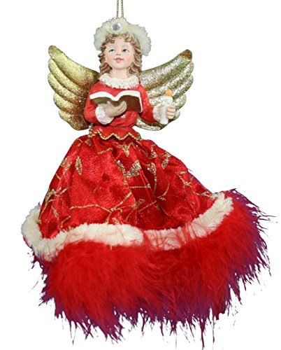 Kurt Adler Angel with Feather Trim Ornament