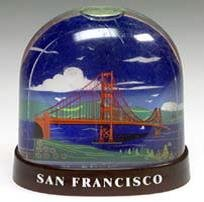 San Francisco Snow Golden Gate Bridge History Water Snow Globe