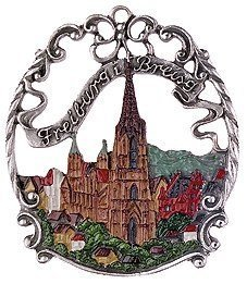Freiburg Breisgau Germany Pewter Christmas Ornament
