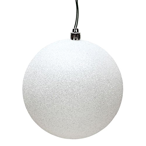 Vickerman 482070 – 3″ White Glitter Ball Christmas Tree Ornament (12 pack) (N590811DG)
