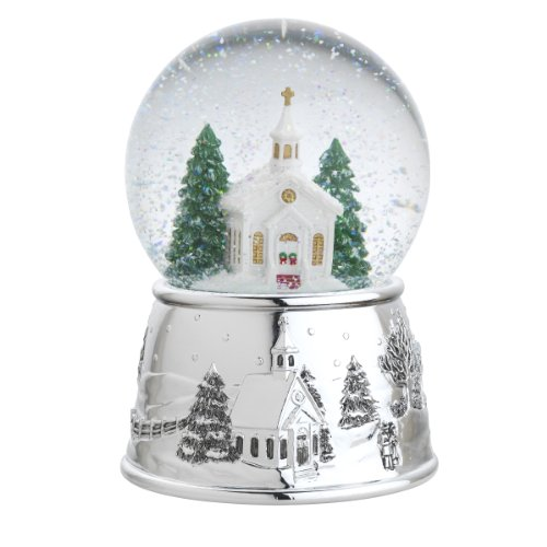 Reed & Barton Village Church Snowglobe Christmas Ornament, Carol of Bells, 6-Inch