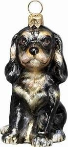 Blenheim Cavalier King Charles Spaniel Puppy Polish Glass Christmas Ornament