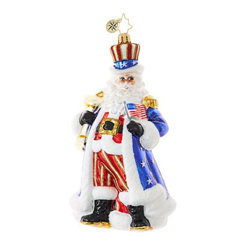 Christopher Radko Uncle Santa Wants You! Santa Claus Christmas Ornament