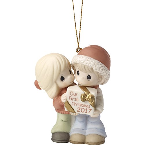 Precious Moments Our First Christmas Together 2017 Dated 2017 Bisque Porcelain Ornament 171004