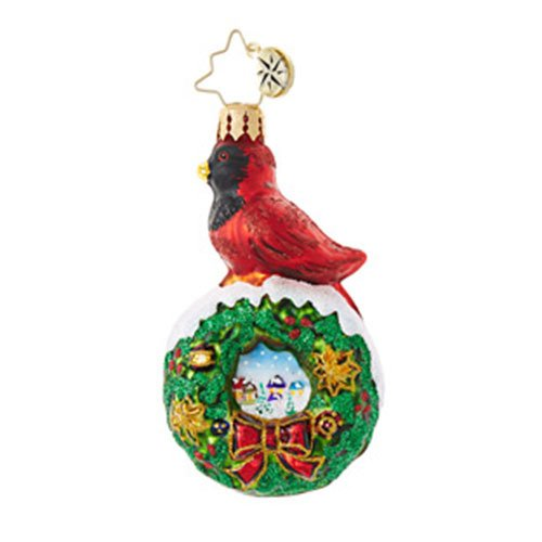 Christopher Radko Red Velvet Little Gem Christmas Ornament