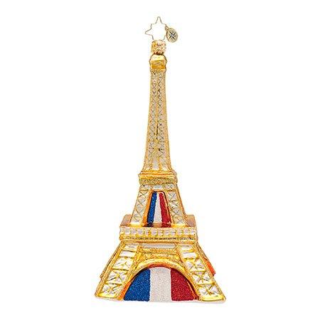 Christopher Radko Pride of Paris Eiffel Tower Christmas Ornament – EXCLUSIVE
