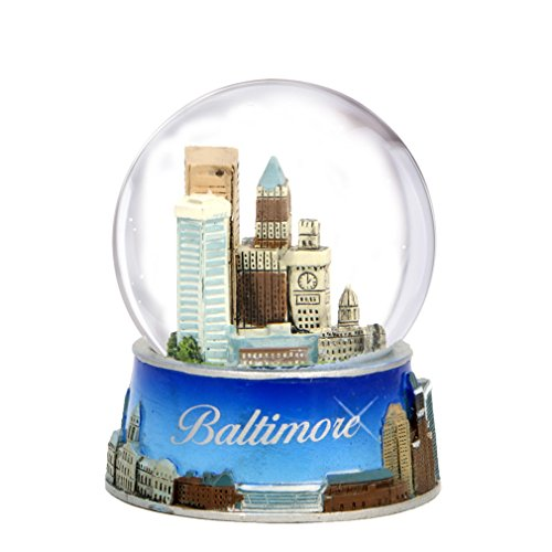 Baltimore Snow Globe from Maryland. Souvenir Snow Globe of Baltimore Skyline. 3.5″ (65mm) snow globes