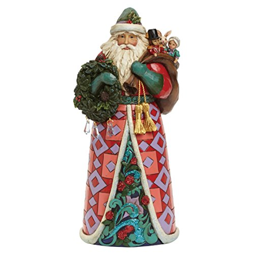Jim Shore for Enesco Heartwood Creek Winter Wonderland Santa Figurine, 9.75-Inch