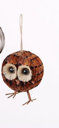 One Hundred 80 Degrees Feather Owl Ornament, Choice of Styles (Feather Owl Ornament-right)