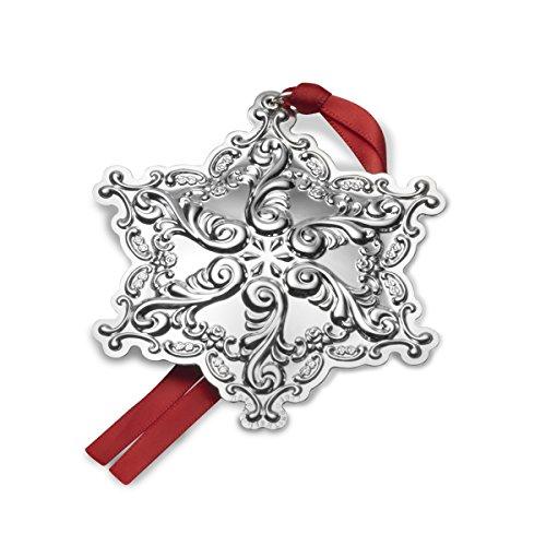 Wallace 2017 Sterling Silver Grand Baroque Snowflake Ornament, 20th Anniversary Edition