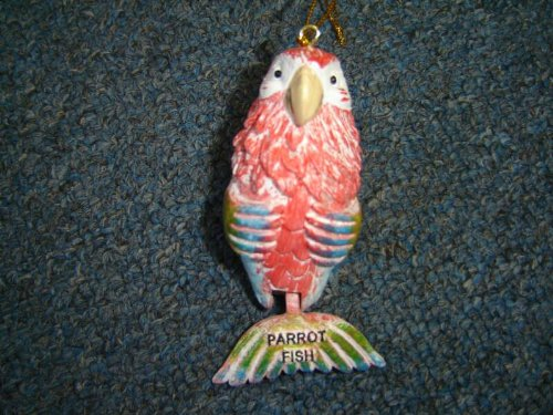 Parrot Fish Christmas Ornament with Hinged Tail