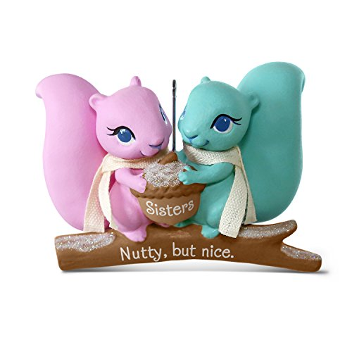 Hallmark Keepsake 2017 Nutty But Nice Sisters Squirrels Christmas Ornament