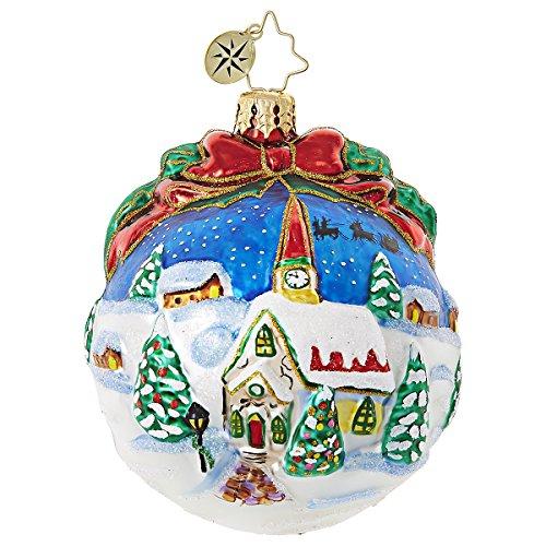 Christopher Radko Inspiring Santa Silhouette Religious Christmas Ornament