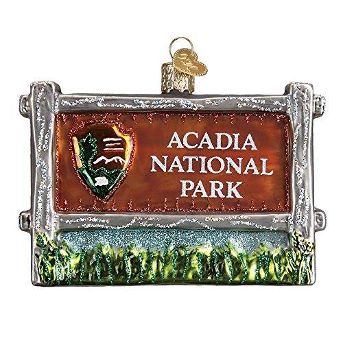 Old World Christmas 36190 Acadia National Park Glass Blow Christmas Ornament Acadia National Park