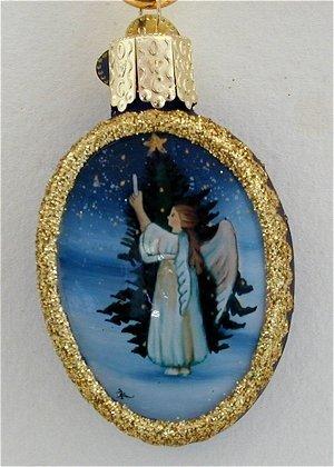 Old World Christmas-Angel Trimming Tree-Inside Art