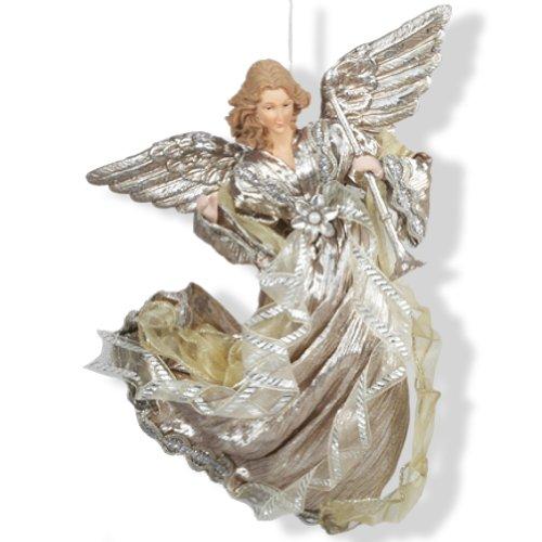 Platinum and Plum Flying Angel Christmas Ornament J5914-A Kurt Adler