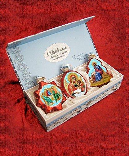 G. Debrekht Nativity Glass Ornaments (Set of 3)
