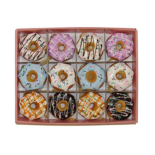 Kurt Adler Donut Ornament (Set of 12), 2.75″