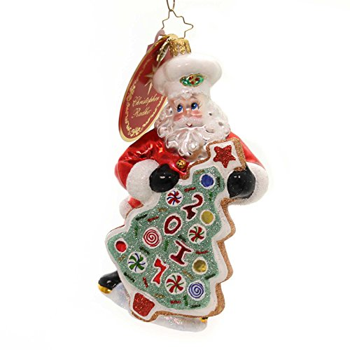 Christopher Radko Sugar Cookie Kris Dated Christmas Ornament