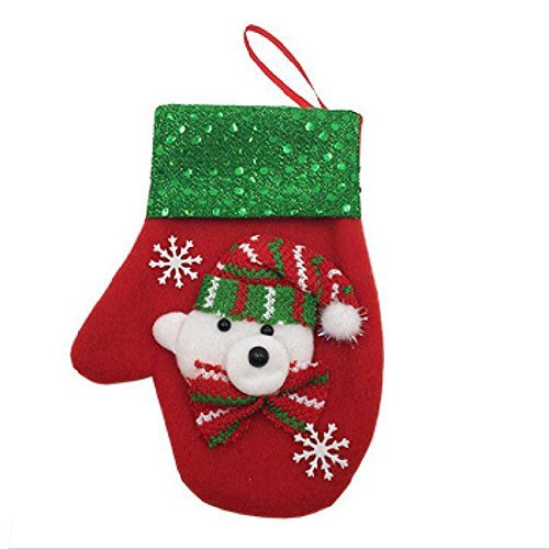 Zehui Candy Bag Christmas Glove Holders Candy Bag Tableware Holder Hanging Decor for Christmas Decoration