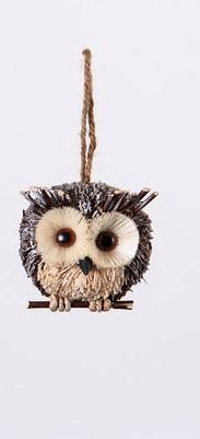 One Hundred 80 Degrees Owl Ornament, Choice of Styles (Right)