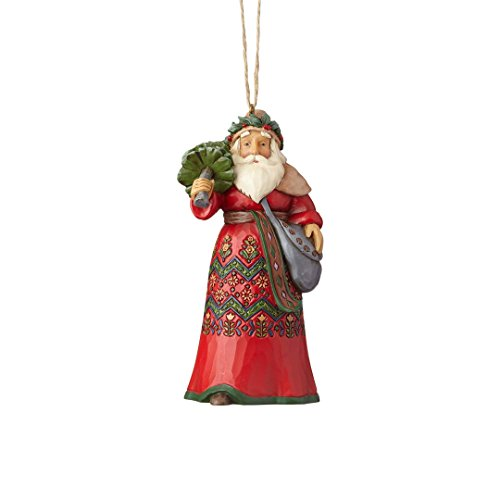 Enesco Jim Shore Heartwood Creek Sweden Santa Ornament