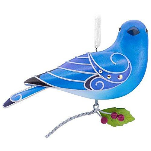 Hallmark Keepsake 2017 Beauty of Birds Mountain Bluebird Christmas Ornament