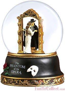 Phantom and Christine Mirror Scene Water Globe