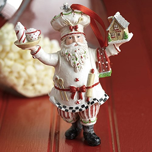 RAZ Imports 6″ Baker Santa Ornament