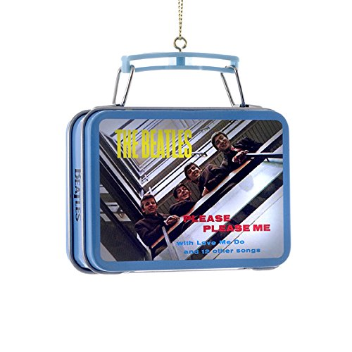1 X The Beatles Kurt Adler Ornament- Mini Lunch Box- Beatles Debut Album-Please Please Me by Kurt Adler
