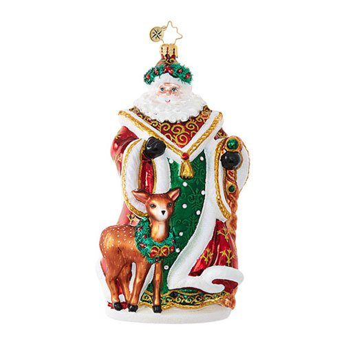 Christopher Radko My Deer Santa Claus Christmas Ornament