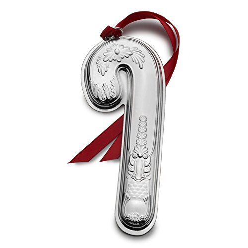 Wallace 2017 Sterling Silver Candy Cane Ornament, 10th Anniversary Edition