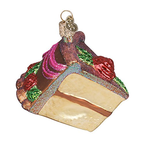 Old World Christmas Piece Of Cake Glass Blown Ornament