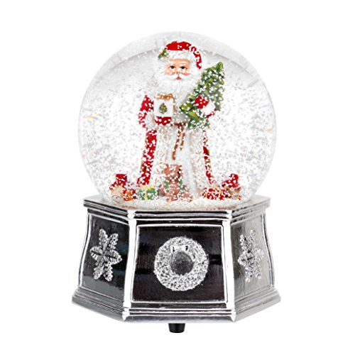 Spode Annual Edition Musical Santa Snow Globe, Small