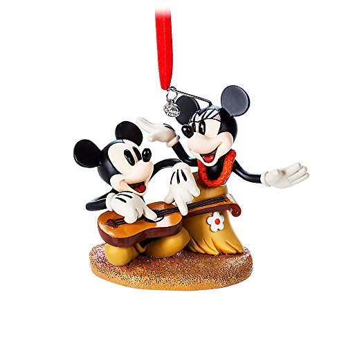 Disney Mickey and Minnie Mouse Sketchbook Ornament – Hawaiian Holiday