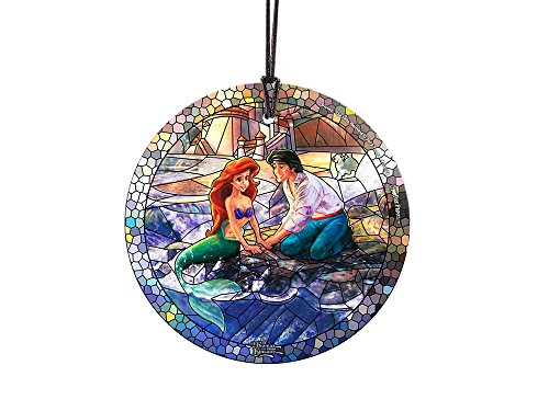 Disney Little Mermaid (Stained Glass Style) StarFire Prints Glass Ornament – Home and Christmas Tree Decoration