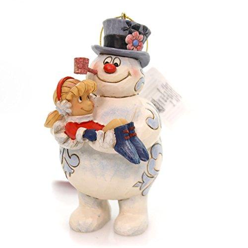Enesco, Frosty the Snowman by Jim Shore Frosty Holding Karen Ornament