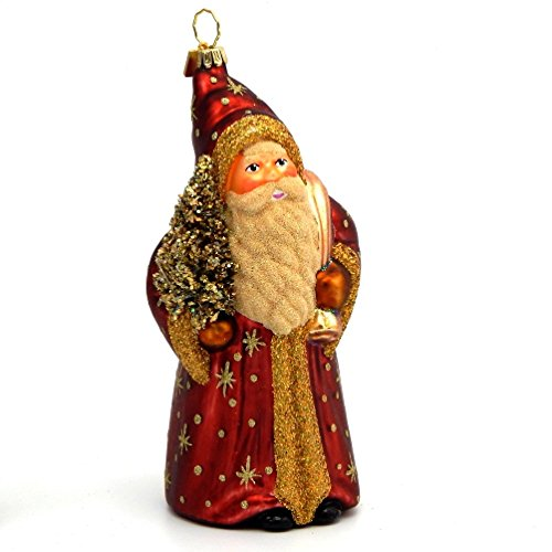 Gabriela Christoff – Old Father Christmas – Polish Blown Glass Christmas Ornament