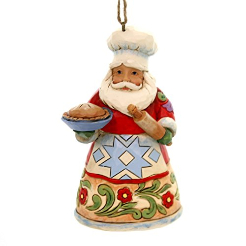 Enesco Jim Shore Heartwood Creek Culinary Santa Ornament