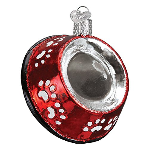 Old World Christmas Dog Bowl Handcrafted Hanging Tree Ornament