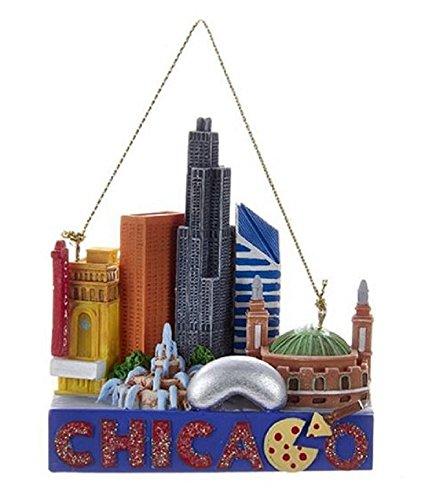 Kurt Adler Chicago Travel Resin Ornament