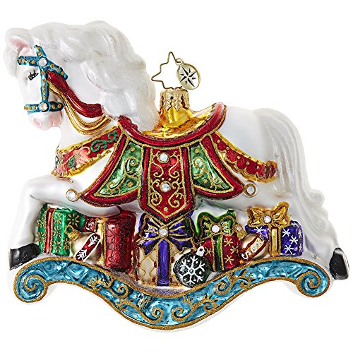 Christopher Radko Little Pony Prize Rocking Horse Limited Edition Christmas Ornament