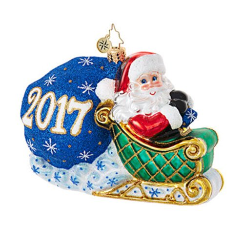 Christopher Radko No Looking Back Dated Christmas Ornament