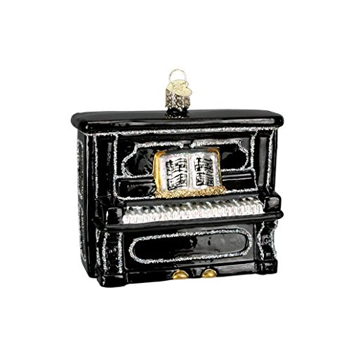 Black Upright Piano 38017 Old World Christmas Ornament