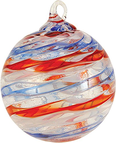 Glass Eye Studio Ornament OLD GLORY Round Glass Ornament